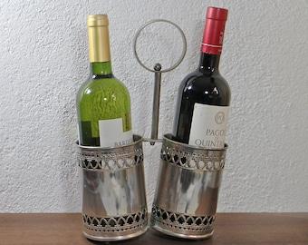 Vintage Bottles holder Wine Rack Double bottle Carrier Metal bottle holder (VL)