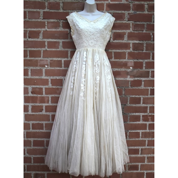 Cocktail dress 50's Midcentury debutante ball - We