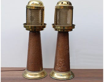 2 Vintage Lamps - Lighthouse shape - Lighthouse Table Lamp Vintage