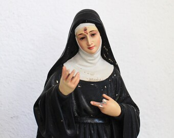 Vintage Saint Rita Statue Antique  Religious Statue Saint Rita of Cascia- Religious Statue Saint of Impossible Cases Religious Collectors VL