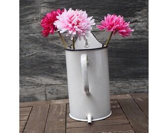 Vintage Enamel Water Fountain -  Enamelware jug vase