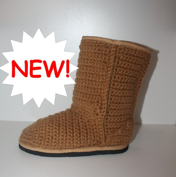 Crochet Boots Patternclassic Style Chestnut Uggs Inspired Etsy