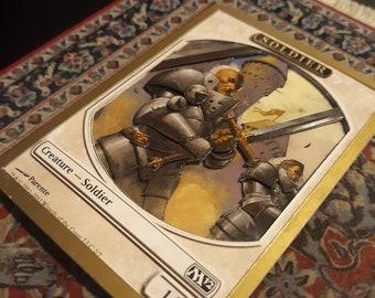 Soldier Token MTG Magic the Gathering 3D Art