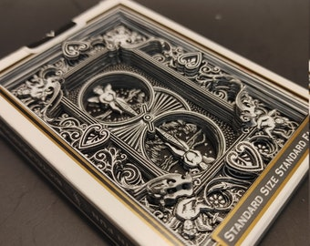 Black Bicycle Standard Playing Cards with Black Back 3D Art hand cut by CardboardCreationism
