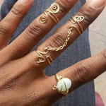 Adjustable chain link double ring