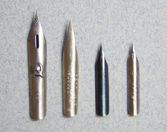 Dip pen nibs: Advanced Set #1 vintage art drawing writing