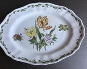 "Noritake Casual Gourmet Garden Platter Oval Serving 16"" Vintage Tulip China Sri Lanka - #M1024"