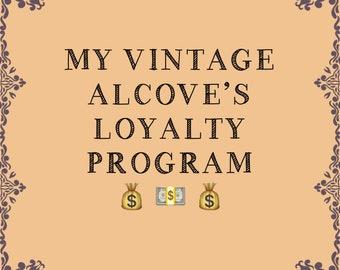 My Vintage Alcove Loyalty Program, Etsy Loyalty Program, Etsy Shop Loyalty Program, Etsy Customer Loyalty Program, Vintage Loyalty Program