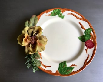Upcycled Vintage Plates, Upcycled Apple Plates, Upcycled Apple Décor Plates, Upcycled Apple Décor for Kitchen, Upcycled Vintage Apple Plates