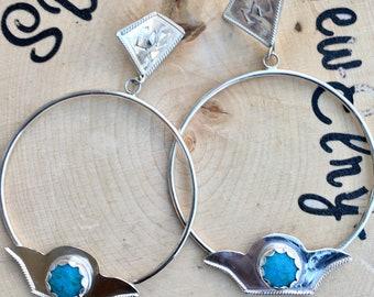 Enchanted Turquoise Hoops