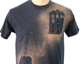TARDIS Bleach Dye Tee Shirt