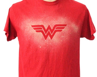 Wonder Woman Bleach Dye Tee Shirt