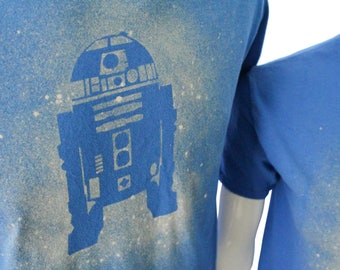 R2 D2 Bleach Dye Tee Shrit