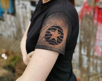 Winter Soldier Bleach Dyed T shirt