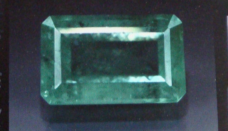 6.37 Carat Natural Loose Columbian Emerald Gemstone Stone For image 0