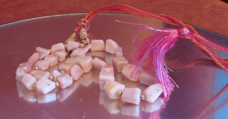 14 St Pink Opal Faceted Nugget Beads 10x14mm Loose