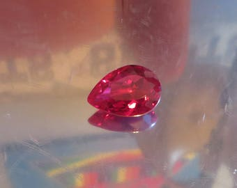 AAA 17.85 Ct Lab Created Ruby Gemstone Synthetic Ruby Gemstone Man Made Ruby