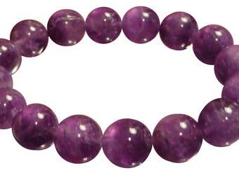180 Cts Natural Amethyst Bracelet February Birthstone Sobriety Bracelet Power Protection Wisdom Energy Healing Yoga Mala Bracelet Chakra