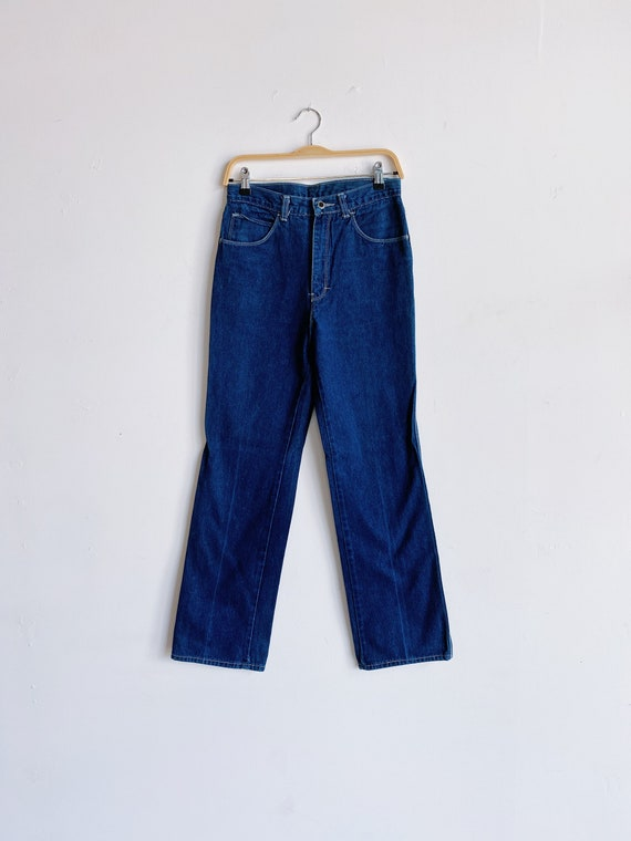 70s DRC Dark Wash High Rise Straight Leg Jeans Siz