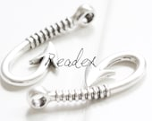 6 Pieces Anchor Hook Connector Oxidized Silver Base Metal Fish Hook Nautical Bracelet Connector Hook 40x17mm (YA35679 S30)