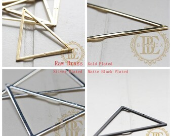 50pcs Silver Triangle Mirror Hangers Strap D-Ring Hanging Picture Frame Hooks RS