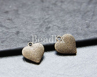 20pcs / Heart / Antique Brass Tone / Base Metal / Charms (YB10333//B326)