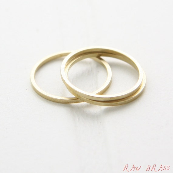 CW-3296C 30 Pieces Raw Brass Rectangle Ring Link 9x24mm