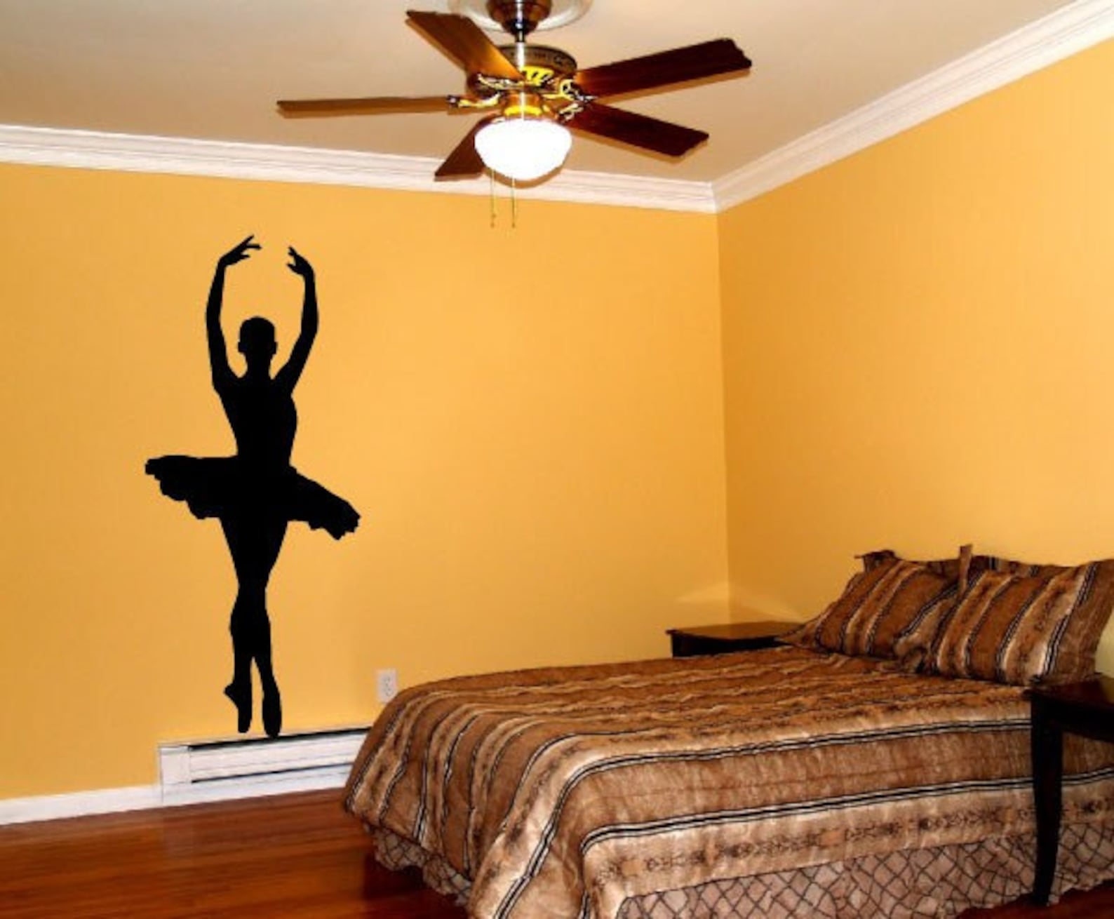 free shipping ballet dancer releve wall decal custom size and color