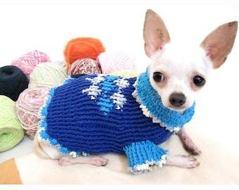2c6d39769b Retro Dog Clothes Diamond Knitting Pattern Dog Sweater