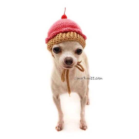 Hund Hut Häkeln Cupcake Mütze Stricken Lustig Hund Kleidung Etsy
