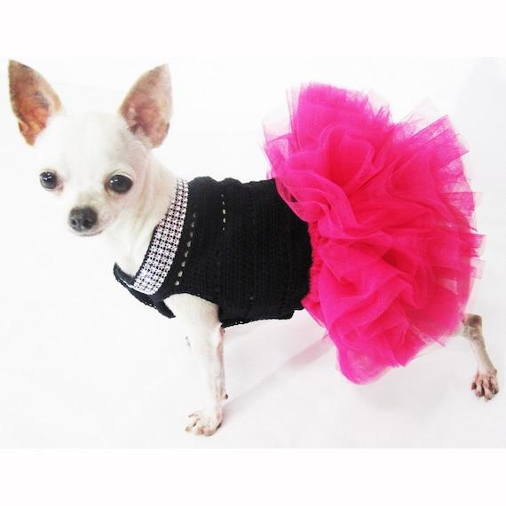 Pink Dog Clothes Pink Dog Tutu Black Pink Pet Costumes Etsy