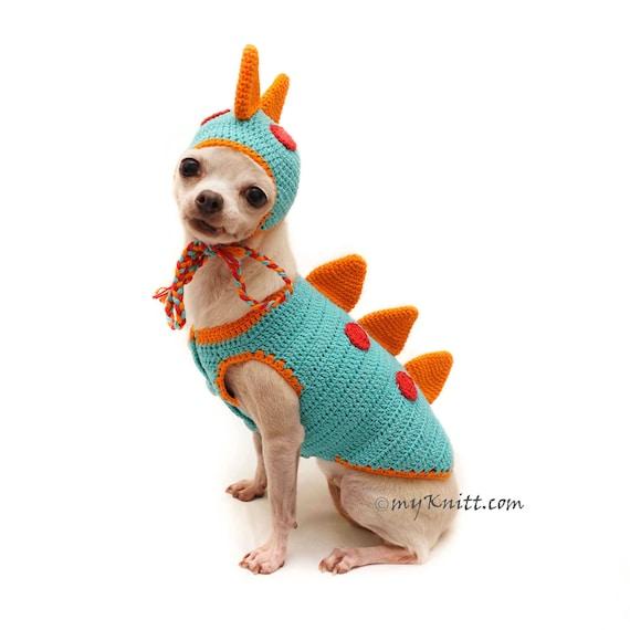 Hund häkeln Kostüm Drachen Dinosaurier-Dog-Kostüm Hund Hut   Etsy