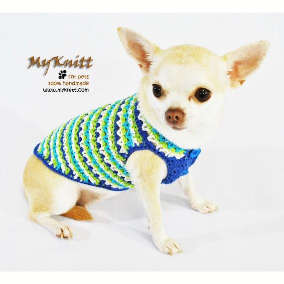 Türkis Baumwolle Hundebekleidung Häkeln Hund Kleidung Etsy