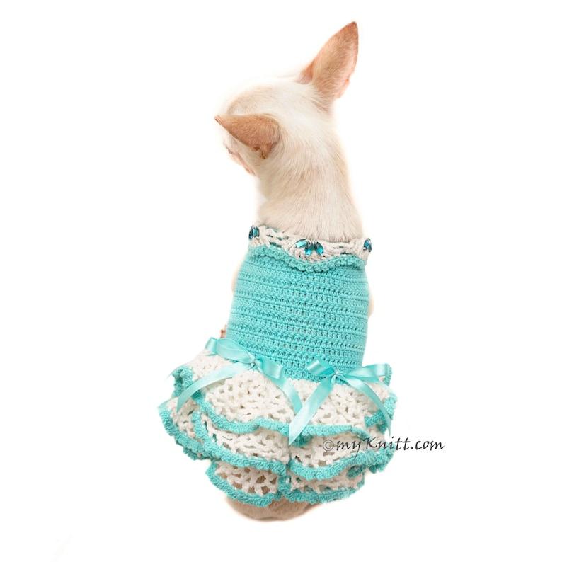 b2dbe453e Teal Dog Dress Dog Wedding Dress Dog Bridal Shower Dog