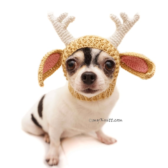 Funny Dog Hat Crochet Crochet Amigurumi Animal Reindeer  7b20cb572e5