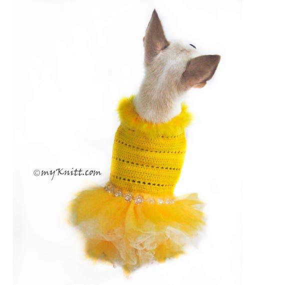 Gelbe Hund Tutu Kleid Belle aus Schönheit und das Tier