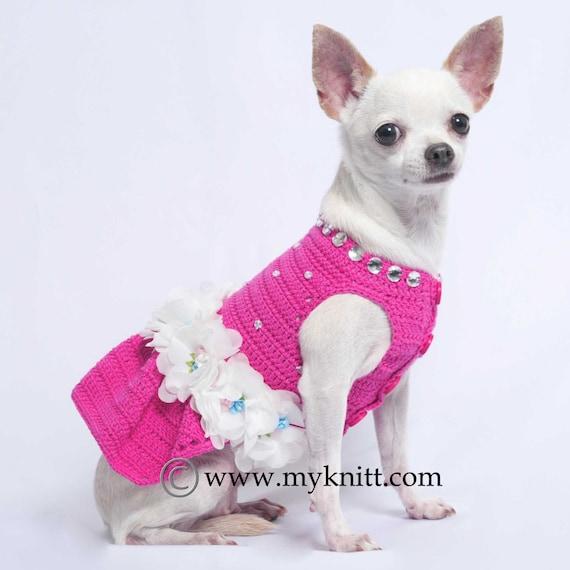 Flor perro de Dama de honor vestido rosa con pedrería | Etsy