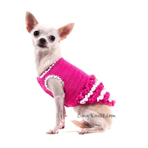 Princesa rosa perro blanco vestido niña vestido de volantes | Etsy