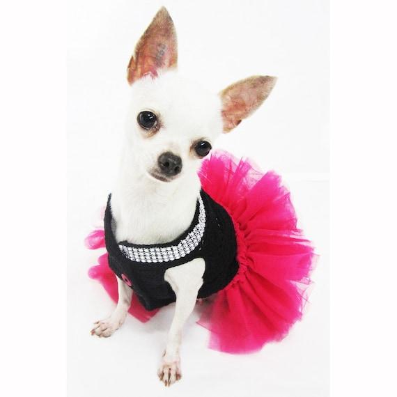 Rosa ropa para perros perro rosado del tutú negro rosa | Etsy