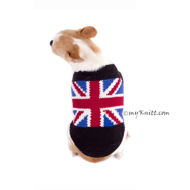 Union Jack Hund Pullover Handarbeit häkeln Chihuahua Kleidung | Etsy