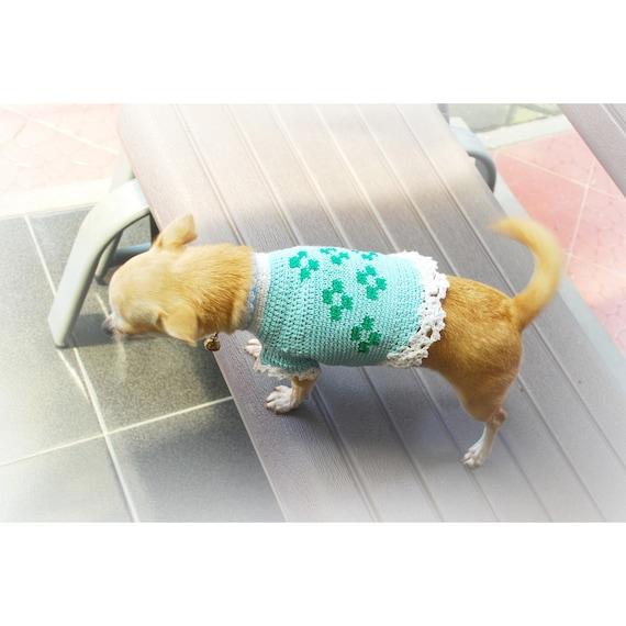 Türkis Hund Kleidung häkeln Chihuahua Kleidung Hund Shirts