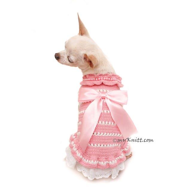 Bebé perro rosa de encaje de encaje vestido de perro mano | Etsy