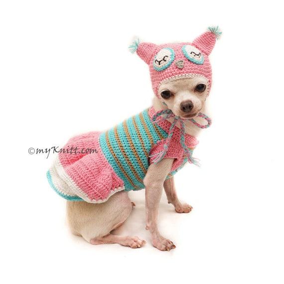 Eule Hund Kostüm Eule Hund Hut Rosa Türkis Eule   Etsy