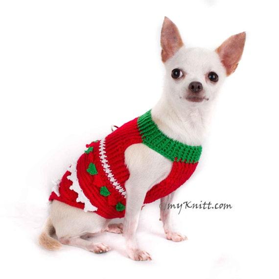 Weihnachten Chihuahua Kleidung Rot Grün Santa Hundebekleidung Etsy