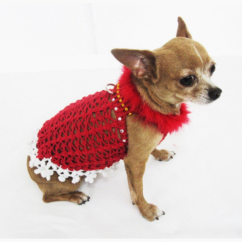 Christmas Pet Costumes.Fancy Dog Dresses Fur Crystal Pet Costumes Cute Teacup Chihuahua Clothes Crochet Designer Dogs Myknitt Df10 Free Shipping