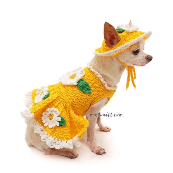 Niedlichen Hundebekleidung gelbe Spaß Hundekleid häkeln   Etsy