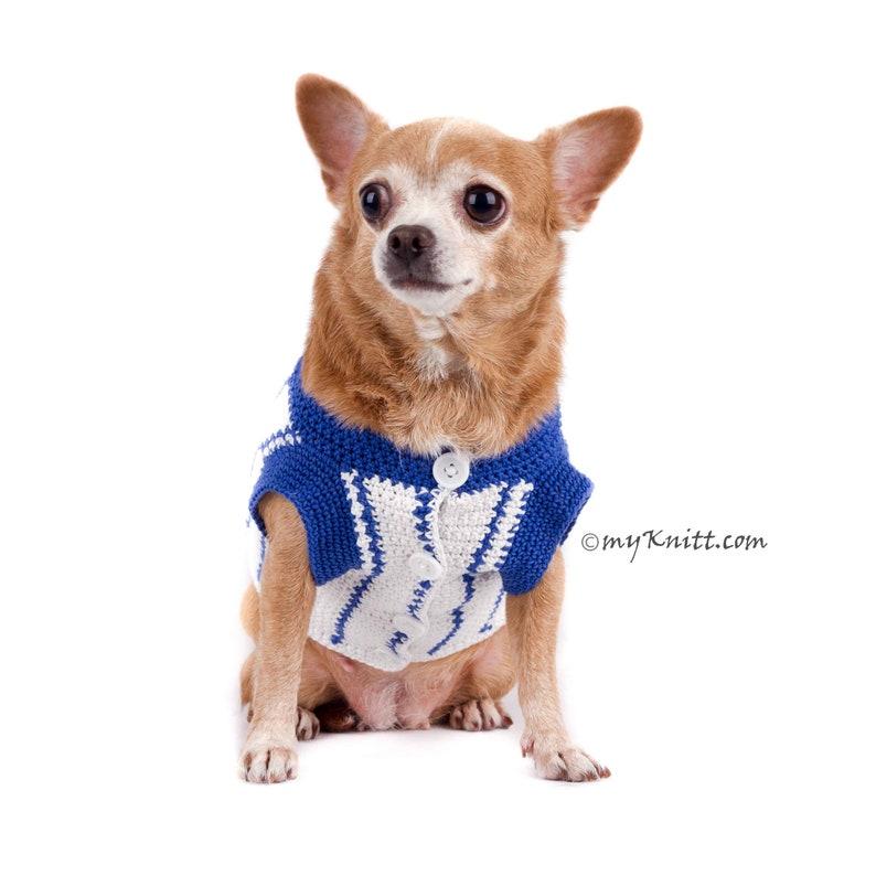 the best attitude c730b 3382e CHICAGO CUBS Dog Jersey, Cubs Dog Shirts, Chicago Dog Clothes, Baseball Pet  Clothing, Handmade Crochet MLB Pet Clothes by Myknitt , DK787