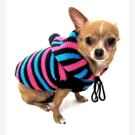 Häkeln Sie Hund Hund Hoodie Niedlichen Hundebekleidung Etsy