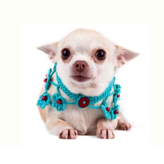 Hundehalsband für Mädchen Hundehalsband Blume häkeln | Etsy