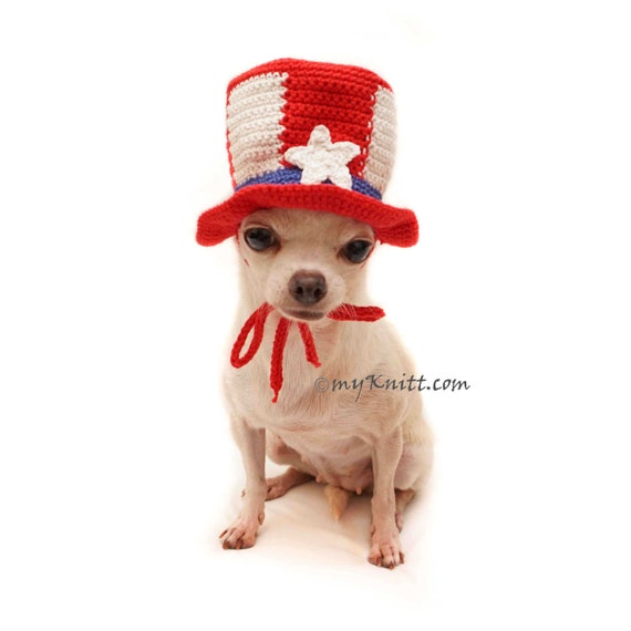 214ad1e847a Uncle Sam Dog Top Hat 4th of July Pet Hat Patriotic Day Dog